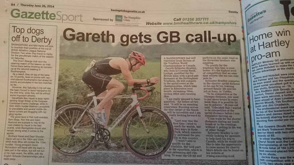 Basingstoke Gazette Sport - Gareth gets GB call-up