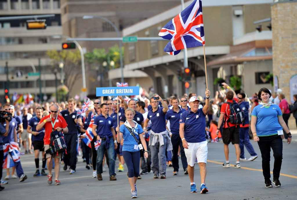 The Great Britain Team in the Parade of Nations