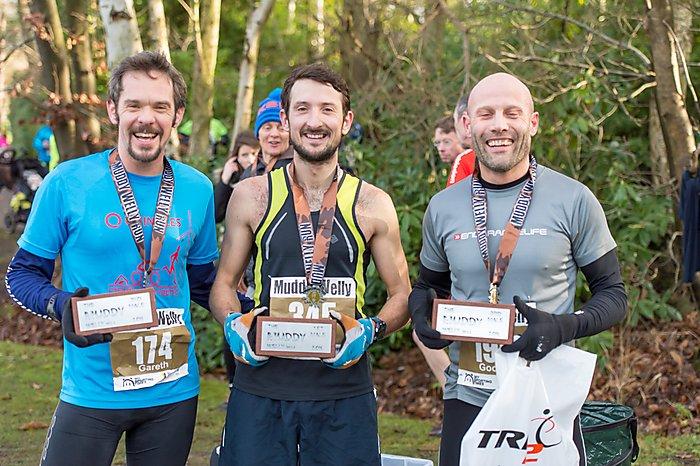 Gareth Sylvester-Bradley (2nd), Callum Hughes (1st),  Mark Gorst (3rd)